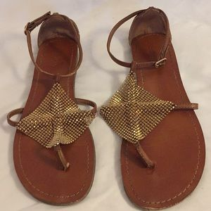 Golden sandal